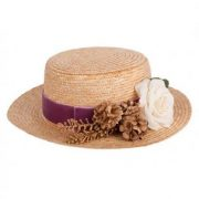 sombrero canotier bell alquiler tocados cantuc madrid online